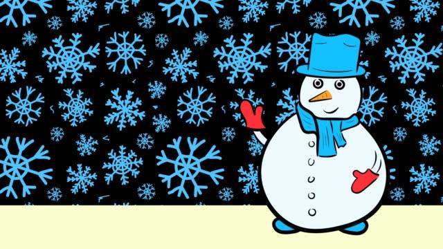 Christmas snowmen and sale blue snow