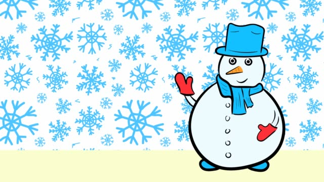 Christmas snowmen and sale blue snowflakes