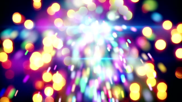 christmas sparkler and lights loopable animation video