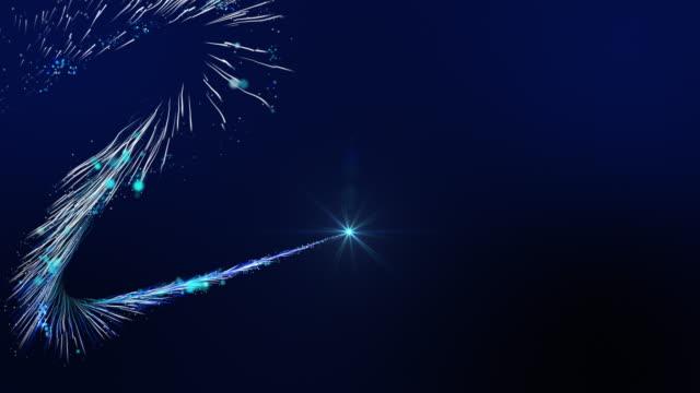 vídeos de stock e filmes b-roll de christmas sparkling particles line - redemoinho