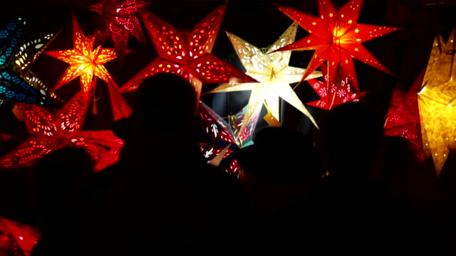 HD Christmas stars at Market Booth video