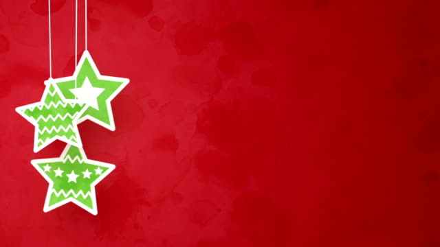 christmas stars on red loopable background video