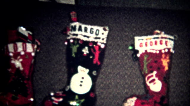 (8mm Vintage) Christmas Stockings Ready 1957 video