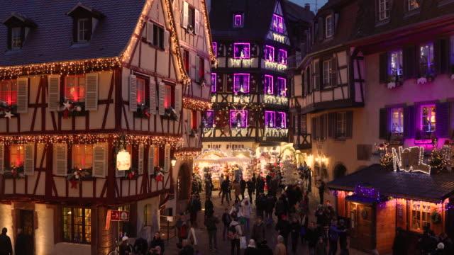 juletid i colmar, alsace, frankrike - fransk kultur bildbanksvideor och videomaterial från bakom kulisserna