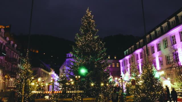 Christmas time in Heidelberg, Germany video