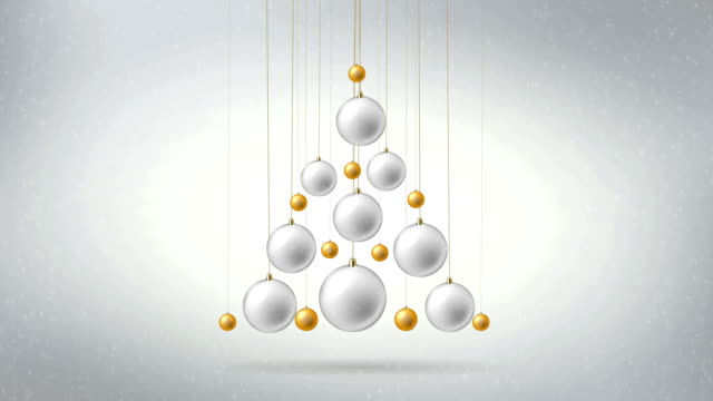 Christmas toys form a fir-tree figure. video