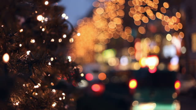 Christmas traffic in the city video