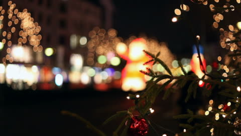 Christmas traffic - pedestrians cross the road Christmas traffic in the city - pedestrians cross the road christmas lights stock videos & royalty-free footage