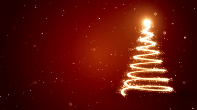 Christmas Tree - Animated Background 3840x2160 Animated Particles christmas ornament stock videos & royalty-free footage