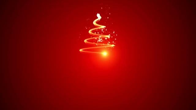 Christmas tree animation, winter background video