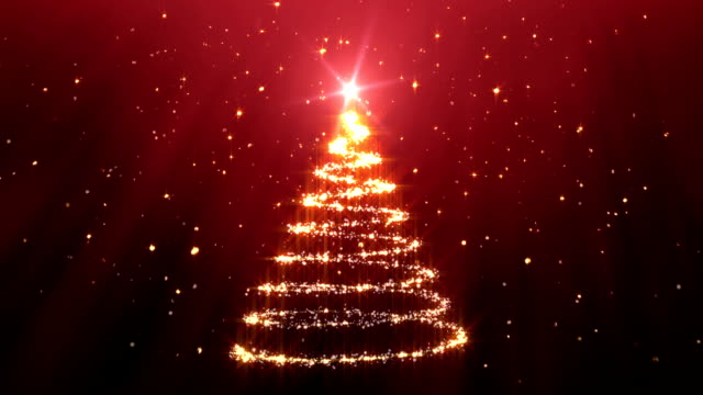 Christmas Tree Background red video