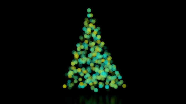 Christmas tree background with lights loop video