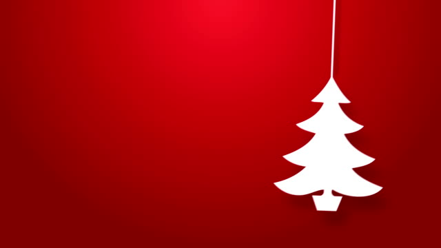 Christmas tree bouncing on a string animation. video