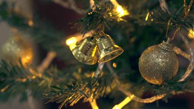 Christmas tree decorations and lighting