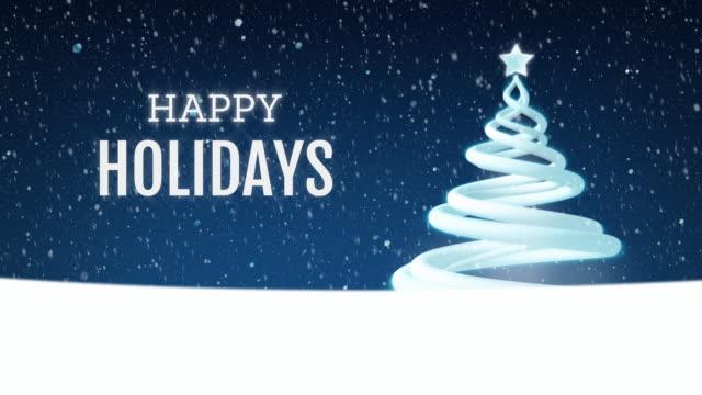 christmas tree festive holiday greeting - happy holidays stock videos & royalty-free footage