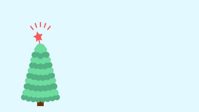 julgran platt stil bakgrund - christmas decorations bildbanksvideor och videomaterial från bakom kulisserna
