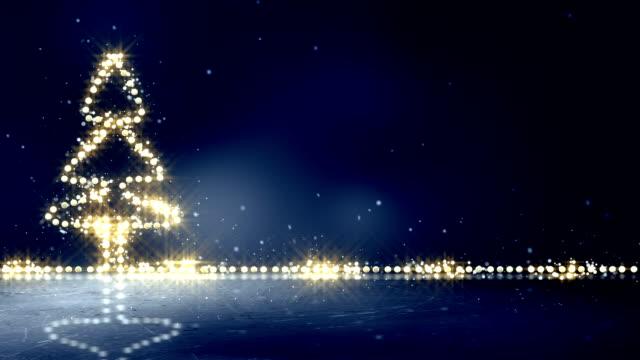 christmas tree glowing lights loop background video