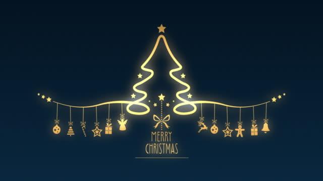 stockvideo's en b-roll-footage met kerstboom opknoping decoratie elementen - rendier