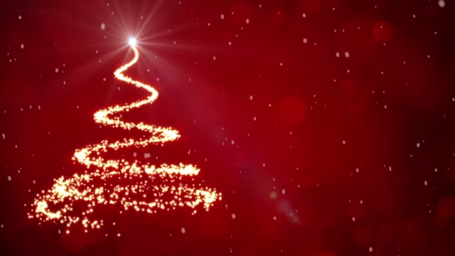 Christmas tree light particles video