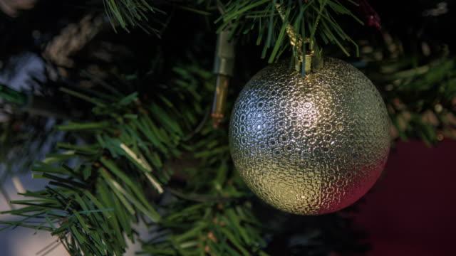 Christmas tree lights twinkling video