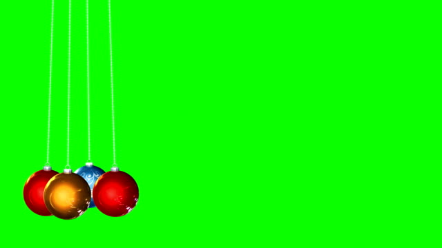 Christmas Tree Ornament Green Box Background Infinite Loop Chroma key background with colorfull christmas tree ornaments christmas ornament stock videos & royalty-free footage