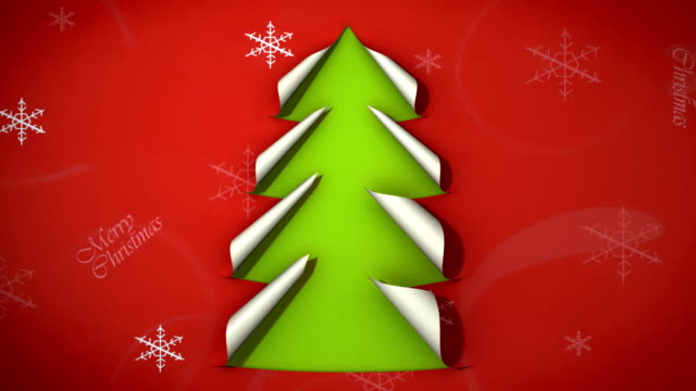 christmas tree paper curl video