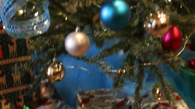 Christmas Tree Tilt Up Defocus video