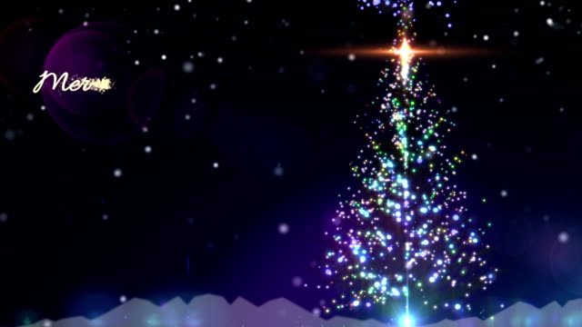Christmas tree wishing greeting video