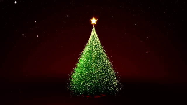 Christmas tree with gold lights video