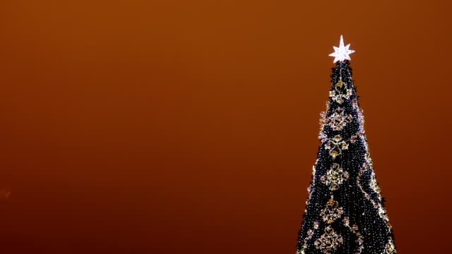 christmas tree with led lights - un singolo oggetto video stock e b–roll