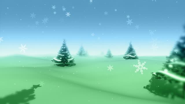 Christmas Trees and Snowflakes (HD Loop) video