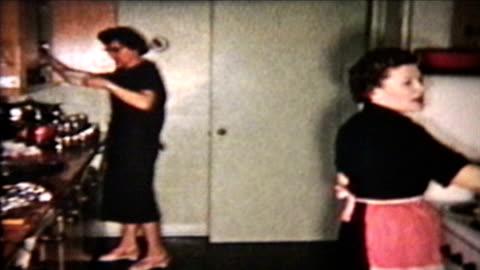 vidéos et rushes de dinde de noël (1958 vintage 8 mm film - vintage