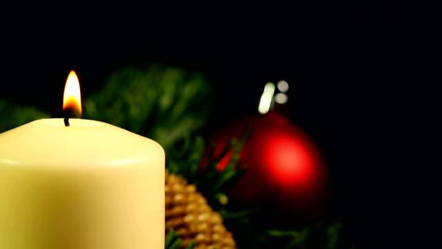 Navidad con decoración y velas - vídeo