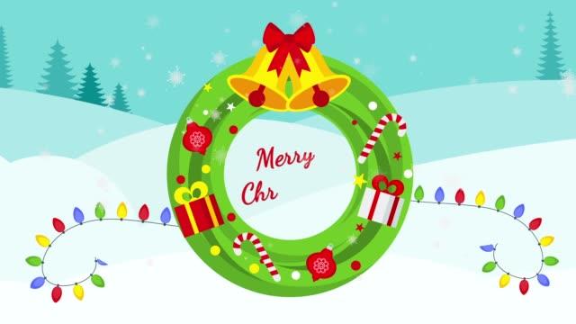 Christmas wreath for house door