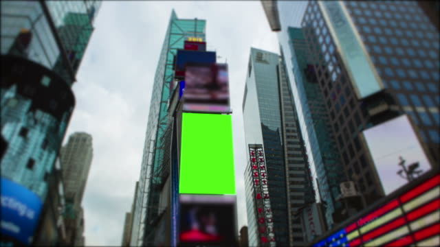 Chromakey Green screen Time Square New York City Manhattan video