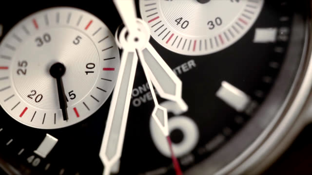 Chronograph close up Chronograph close up wristwatch stock videos & royalty-free footage