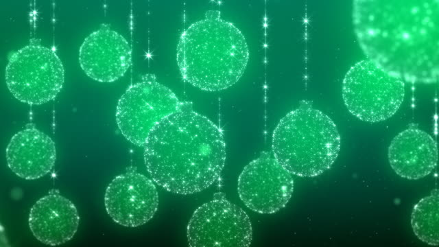 Chrsitmas Ornaments Green Background video