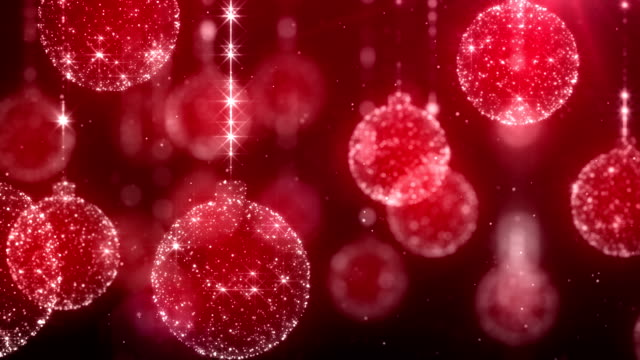 stockvideo's en b-roll-footage met chrsitmas ornaments red background - kerstballen