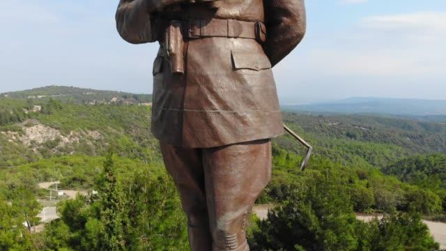 Chunuk Bair Atatürk memorial. The Chunuk Bair Atatürk memorial is one of the many cemeteries & memorials on the Gallipoli Peninsula. çanakkale province stock videos & royalty-free footage