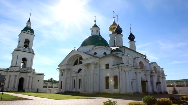 Church and Bell Tower of the Spaso-Yakovlevsky Monastery / Russia. Rostov video