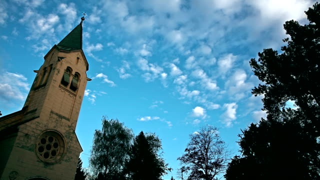 HD: Church And Cloudscape in Time Lapse video
