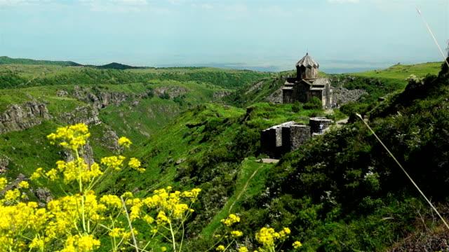 Church built in XI century in castle Amberd in Armenia video