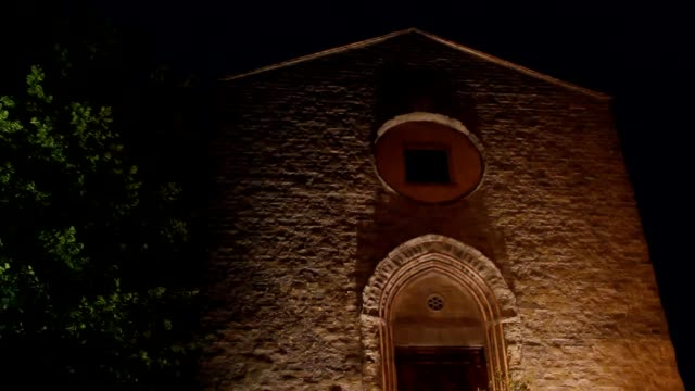 Church by night in Italy video