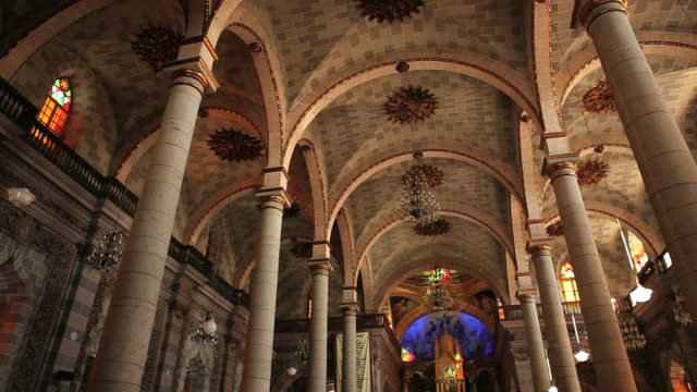 church ceiling hd - church architecture stock videos & royalty-free footage