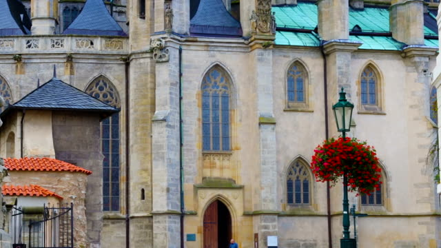 church of st. barbara in kutn hora, czech republic - gothic fashion stock videos and b-roll footage