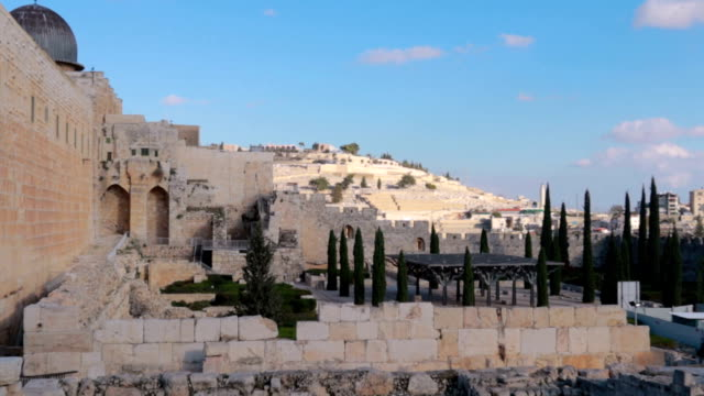 エルサレム zoom - ストック ビデオでは聖墳墓教会 - 人の居住地点の映像素材/bロール