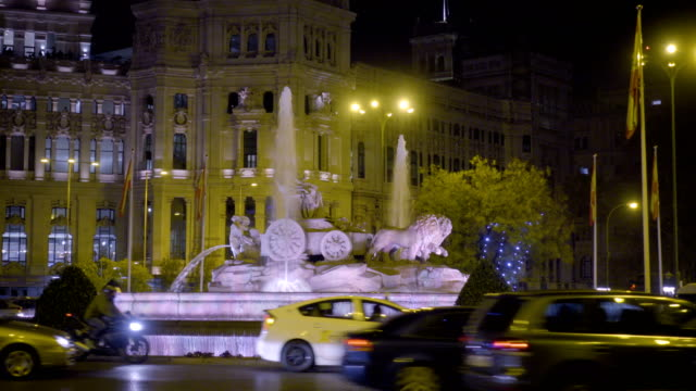 Cibeles Fountain in Madrid, Spain video