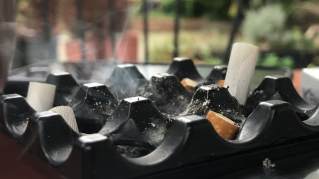 Cigarette Butts in a Ashtray Cigarette Butts in a Ashtray sentencing stock videos & royalty-free footage