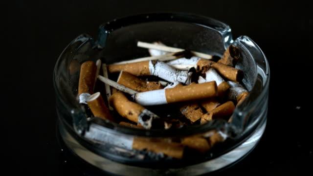 cigarette falling into ashtray - släcka bildbanksvideor och videomaterial från bakom kulisserna