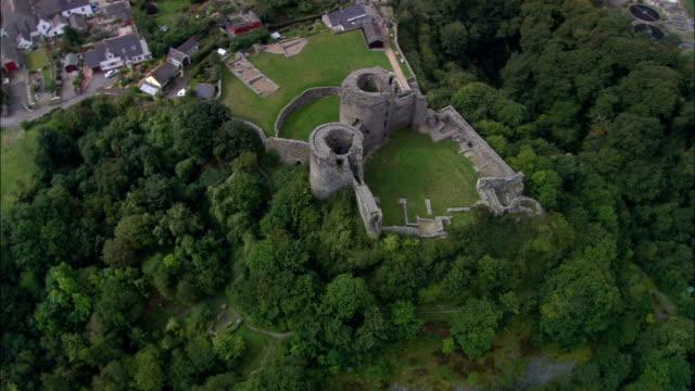 Cilgerran Castle  - Aerial View - Wales, County of Pembrokeshire, United Kingdom